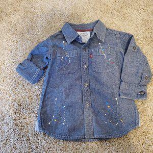 Levi's Paint Splash Button Down, 2T